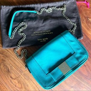 Kate Spade like new turquoise crossbody w/dustbag